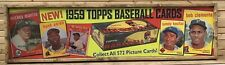 Antique Style 1959 Topps Baseball Wood Printed Sign Mantle Aaron Mays Koufax