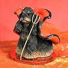 Cocker Spaniel Black Tan Dog Devil Holiday Ornament Tiny Ones Figurine NEW