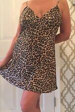 Victoria's Secret Cheetah Leopard Print Satin Nightie Chemise!  M