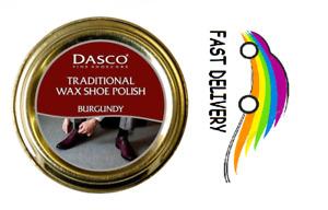DASCO Traditional Wax Shoe Polish High Gloss Burgundy Bordeaux 50ml