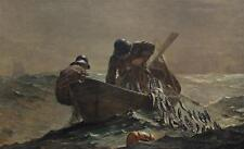 Winslow Homer The Herring Net large Vintage Lithograph American Marine Art #193