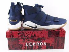 Nike LeBron Soldier XI 11 Mdnight Navy Blue Gold Metallic 897644-402 Sz 10.5 Men