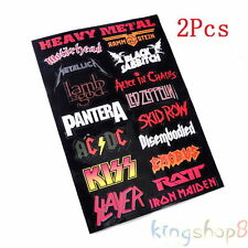 2x Vinyl Decal Heavy Metal Metallic Band Logo Rock Music Sticker Decor Wall Hot