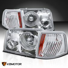 For 1993-1997 Ford Ranger Projector Headlights w/ Fog Lights+Corner Signal Lamps