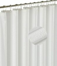 New ListingBarossa Design Embossed Microfiber Fabric Shower Curtain or liner White.