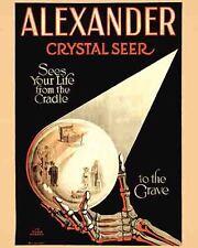 Vintage Antique  Rare  POSTER  1920's Alexander Magic Show Magician Circus Freak