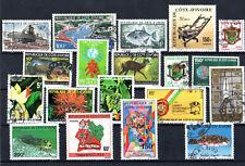 Costa d'avorio Anni 70/80 Raccolta usata viaggiata