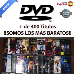 Peliculas DVD PRECINTADAS. Ediciones Españolas. Mas de 400 Titulos!! DVD.