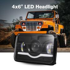 "4""X6"" 75W Rectangle CREE LED Headlights Sealed Beam Crystal Clear Head Light 1PC"