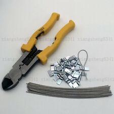 Sealing pliers crimping crimp & 50  meter seals - wires & ferrules UK STOCK