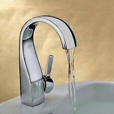 Chrome Bathroom Sink Faucet One Hole/Handle Cold/Hot Tap Discount Mixer Taps