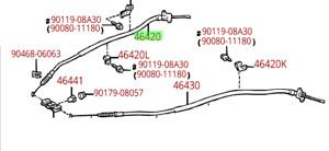 Toyota Tacoma 95-04 Rear Parking Brake Cable Genuine OE OEM