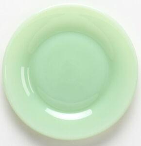 Plate Bread / Fruit Saucer - Jade Jadite Jadite Green Glass - Mosser USA - Small