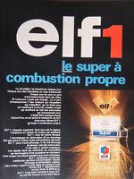 PUBLICITÉ DE PRESSE 1968 ELF1 LE SUPER A COMBUSTION PROPRE