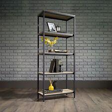 Industrial Style Bookcase Rustic Bookshelves Etagere Shelves Open Tall Urban
