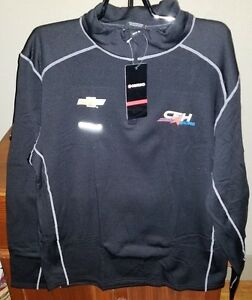 CFH Racing Chevrolet Men's Grid Quarter Zip Pullover NWT Black
