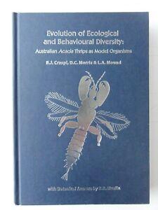 EVOLUTION OF ECOLOGICAL AND BEHAVIOURAL DIVERSITY B J CRESPI 2004 GOOD CONDITION