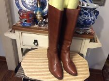 White Mountain Tall Fashion Boots Brown low heel leather Size 8B Made in Brazil