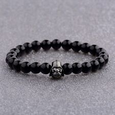 Men's Bracelets Zircon Bronze Star Wars Darth Vader Lava Bead Stone Bracelets