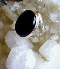 Ring mit Onyx, 925er Silber, Gr.18,8