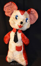 "Dollcraft Novelty Plush VTG Stuffed Toy HUGE MOUSE WEARING TIE - 19"" Tall"
