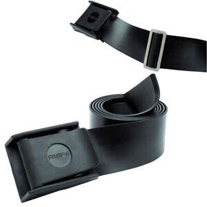 Riffe Rubber Weight Belt w/ Nylon Buckle - Black