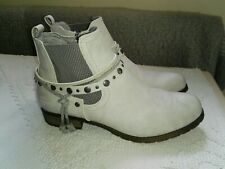 Tom Tailor Ankle Boots Light Ice Grey EU 41 UK 7/7.5