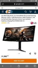 LG 34UC79G-B LG 34-Inch 21:9 Curved UltraWide IPS Gaming Monitor 144Hz Refresh