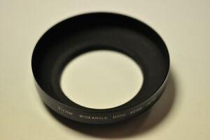 Vivitar metal wide angle lens hood with 62mm thread.
