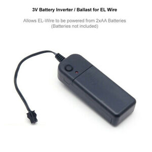 3V 2xAA Battery El Wire Controller Control For 1-5M Neon Light Strip Rope