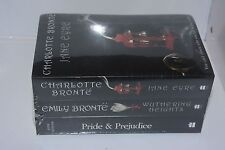 NEW/SEALED set Bronte Wuthering Heights & Jane Eyre, Austen Pride and Prejudice