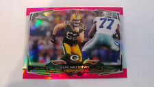 2014 Topps Chrome Mini Pink Refractor Clay Mathews #ed 4/25
