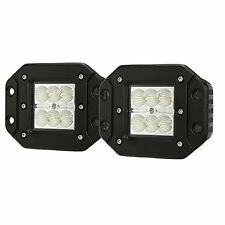 2X 18W 4INCN FLUSH MOUNT FLOOD LED WORK LIGHT BAR CUBE PODS FOG LAMP FORD JEEP