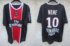 Maillot PSG PARIS SAINT-GERMAIN 2012 NENE n°10 NIKE shirt jersey trikot maglia L