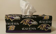 NFL Baltimore Ravens Tissue Box Cover (rectangle) Handmade