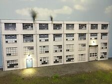 O Scale Scratch Built Industrial #3 Combo Building w/LEDs, Flat/Front MTH Lionel