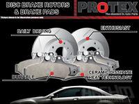 Protex Front Brake Rotors & Ultra Pads FOR Subaru WRX Sti 114.3mm PCD 2004-on