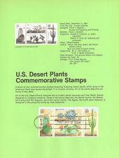 #8135 20c Desert Plants Stamps - Scott #1942-1945 USPS Souvenir Page
