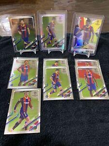 2020-21 Topps UEFA Chrome Champions League Barcelona Team Lot (9) Messi