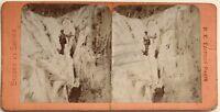 Chamonix Grevasses Mer de Glace Photographie Stereo Vintage Albumine
