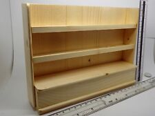 1:12 Scale Natural Finish Shop Display Shelf Unit Dolls House Accessory