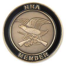 NRA Jumbo Antiqued Member Lapel Pin - National Rifle Association Tie Tack DTOM