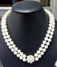 Akoya double strand choker necklace