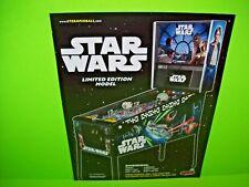 Stern STAR WARS Limited Ed LE Original Flipper Arcade Game Pinball Machine Flyer