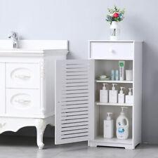 Single Door With Drawer Three Compartments Bathroom Storage Cabinet Shelf Rack