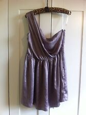 Mink Pink Silver One Shoulder Dress - BNWOT!! Size 14