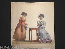 C'est un Monsieur Tres Comme Il Faut.., Amours du Bon Ton c1830 Hand Coloured