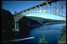 022003 Steel Arch Over Boats Deception Pass A4 Photo Print