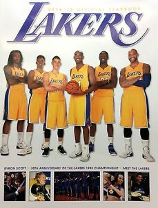 2014-2015 OFFICIAL YEARBOOK PHOTO HISTORY MAGIC LA LAKERS KOBE 85' SHOWTIME LK4