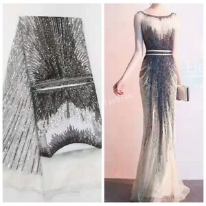 2019 Sequin Mesh Embroidery Lace Fabric Dress gown 51'' wide Wedding Fabric